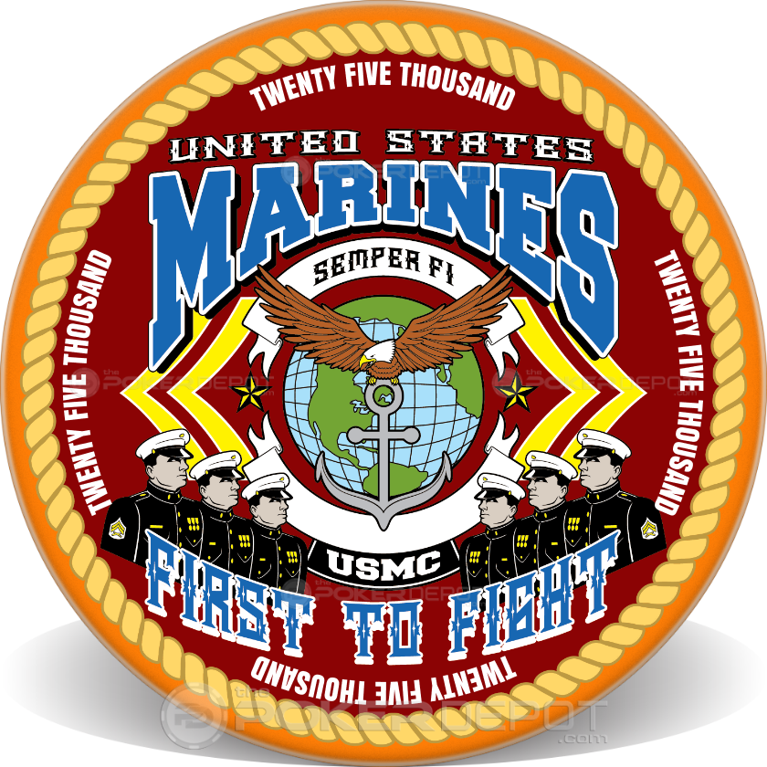 Marine Corps Ceramic Chips - Back