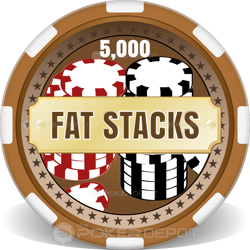 Fat Stacks Poker Chips - Back
