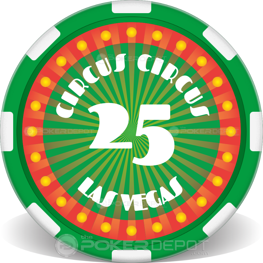 Circus Style Poker Chips - Back