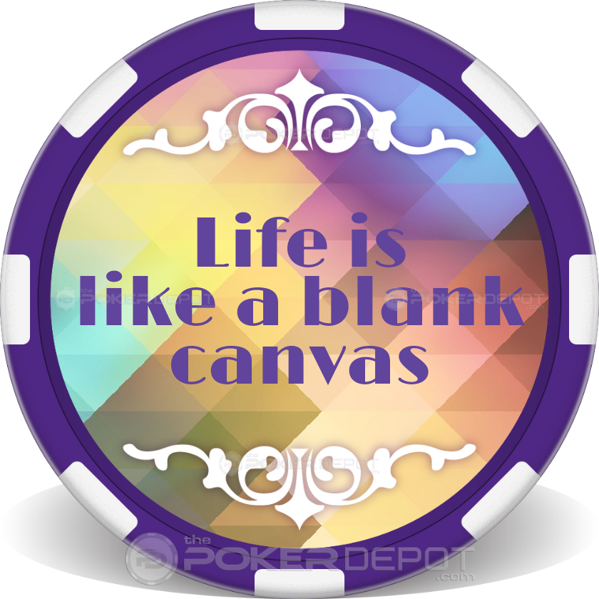 Inspirational Quote Poker Chips - Main