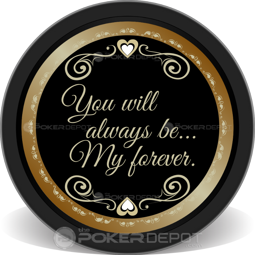 50th Wedding Anniversary Chips - Back