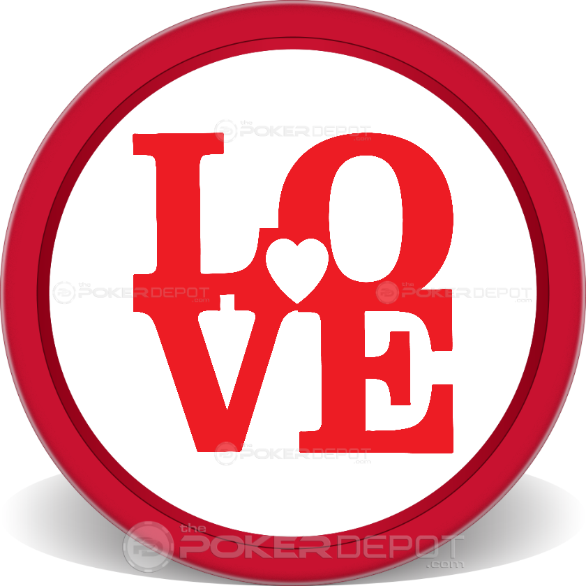 Love Poker Chips - Front