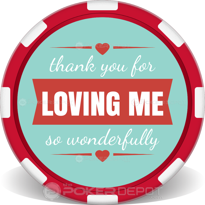 I Will Always Love You Poker Chips - Back
