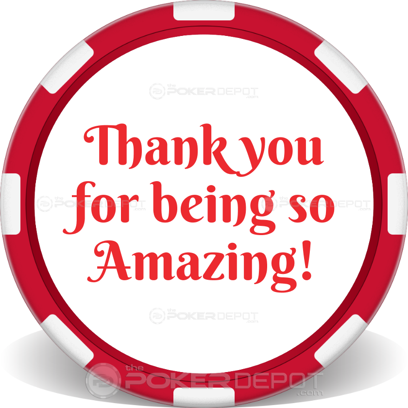 I Love You Valentines Day Poker Chips - Back