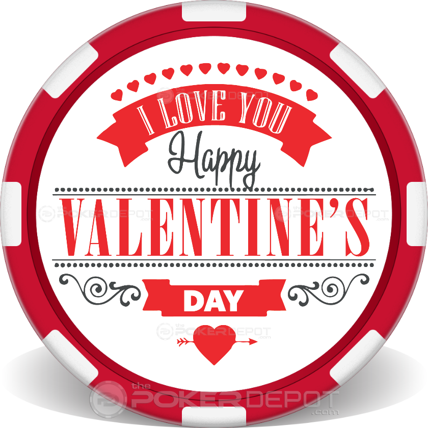 I Love You Valentines Day Poker Chips - Main