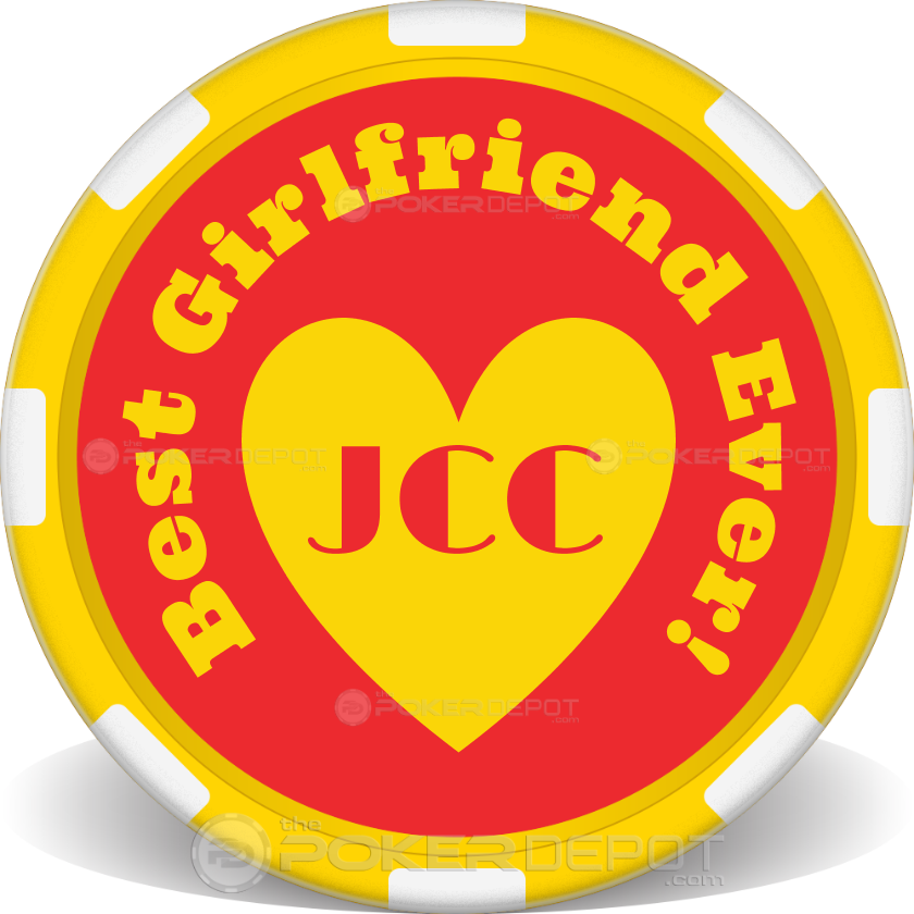 Happy Valentines Day Poker Chips - Back
