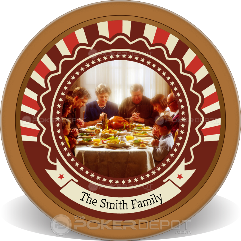 Happy Thanksgiving Poker Chips - Back