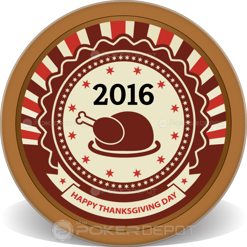 Happy Thanksgiving Poker Chips - Main