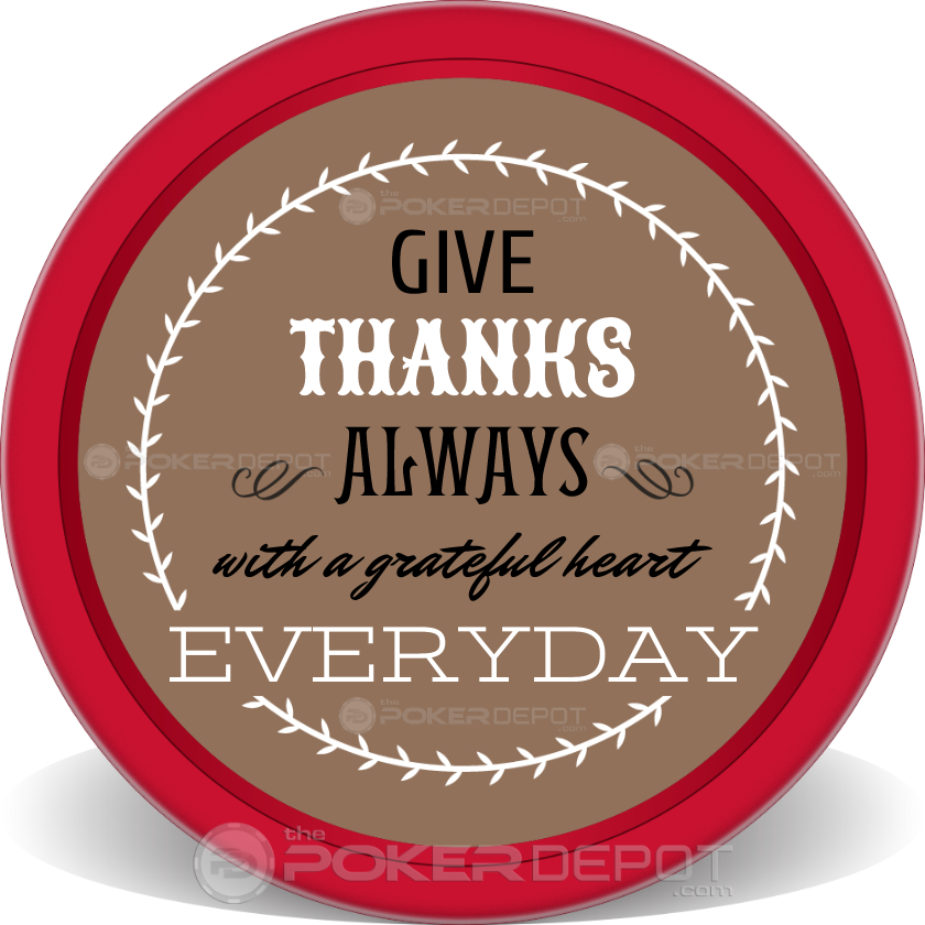 Artistic Turkey Poker Chip - Front
