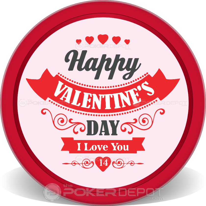 Valentine I Love You Poker Chips - Main