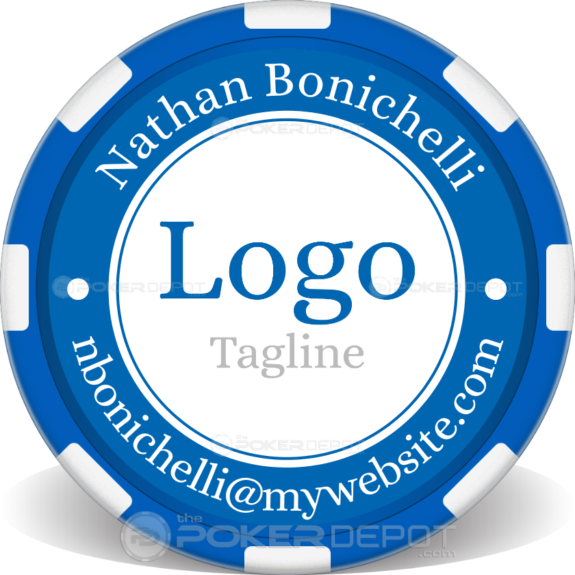 Custom Logo Poker Chip - Back