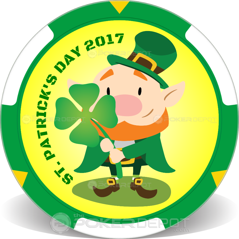 St Patricks Day Poker Chips - Main