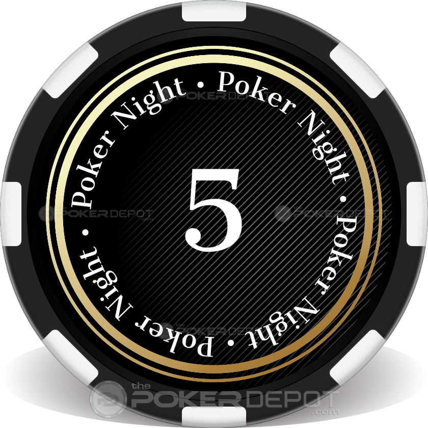 Spade Grad Night Poker Chips - Back