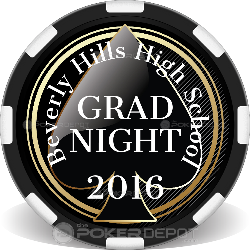 Spade Grad Night Poker Chips - Main