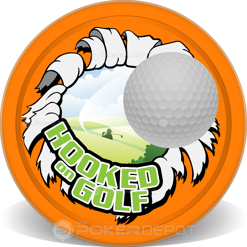 Hooked on Golf Poker Chips - Main