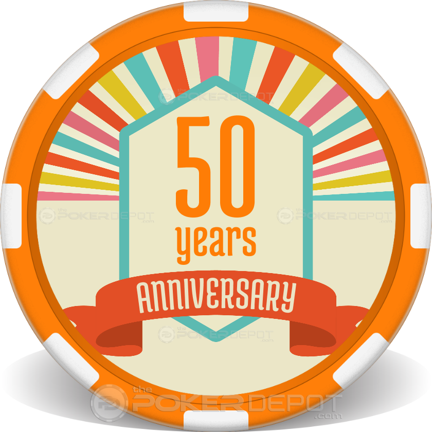Anniversary Poker Chips 01 - Front
