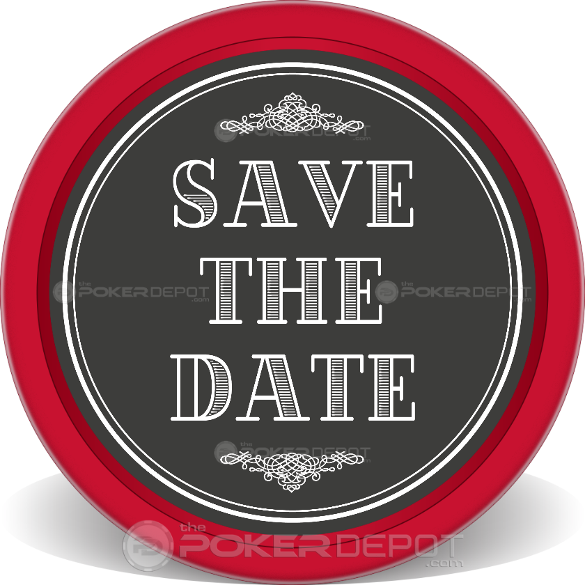 Save The Date 04 Poker Chip - Back