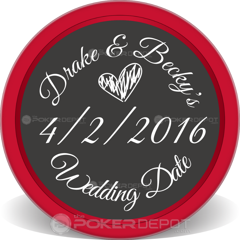 Save The Date 04 Poker Chip - Main