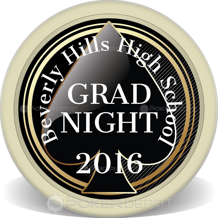Spade Grad Night Poker Chip - Back