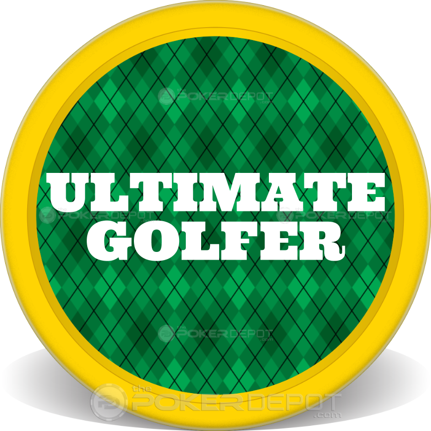 Golf Plaid Poker Chip - Front
