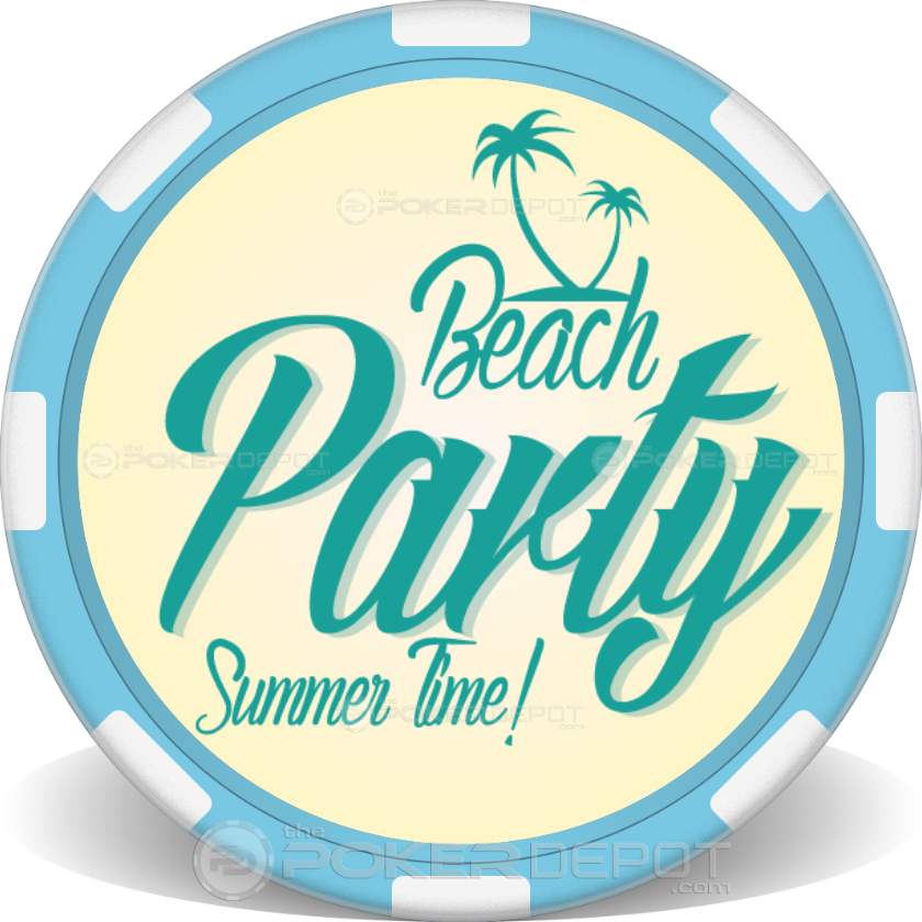 Summer Party Poker Chip - Back