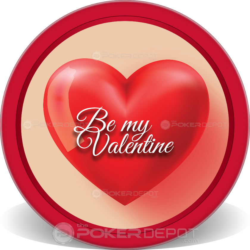Be My Valentine Poker Chips - Main