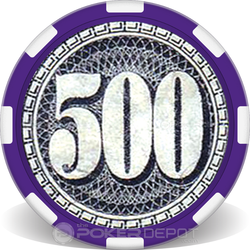 $500 Bill Poker Chip - Back