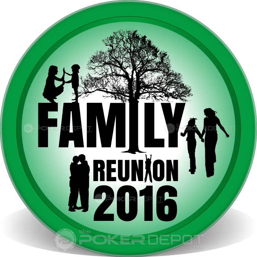 Family Reunion Poker Chips - Front
