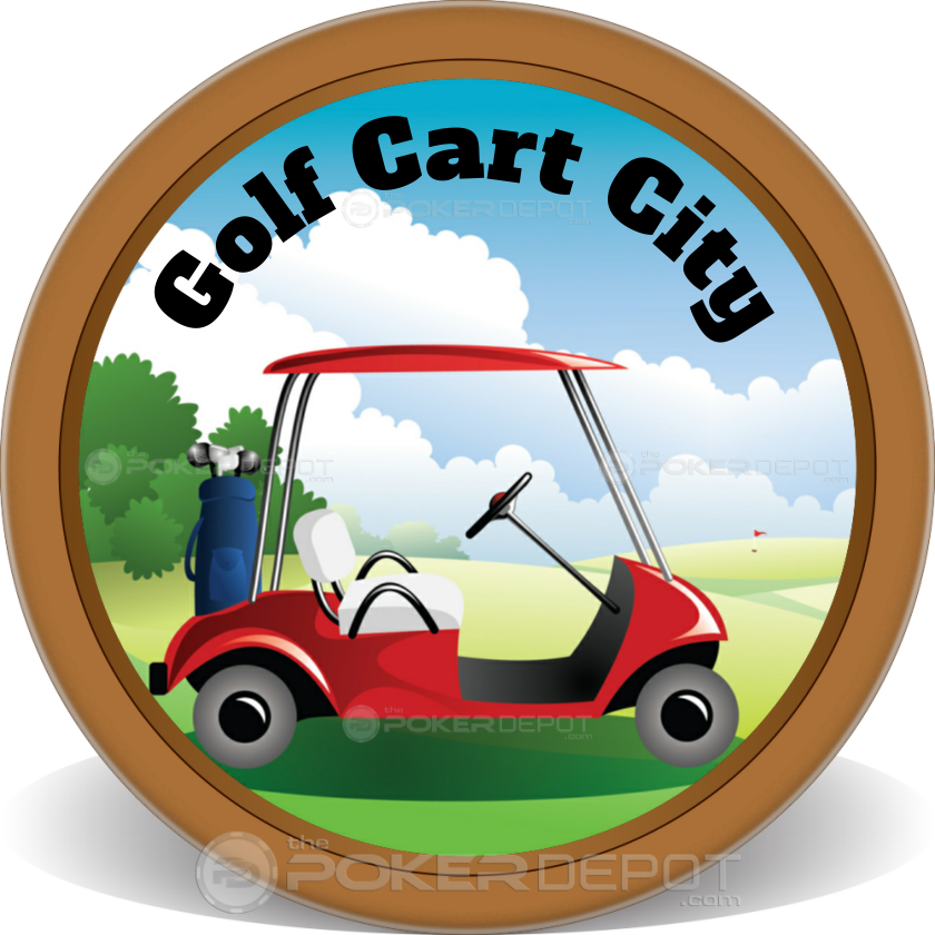 Golf Cart Poker Chip - Back
