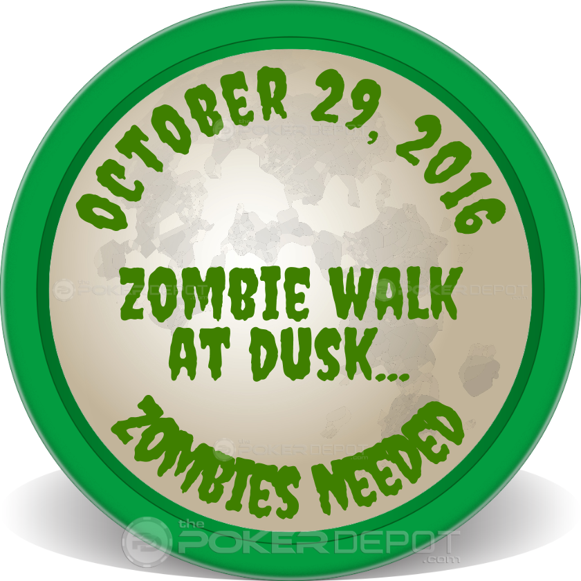 Zombie Party Poker Chip - Back