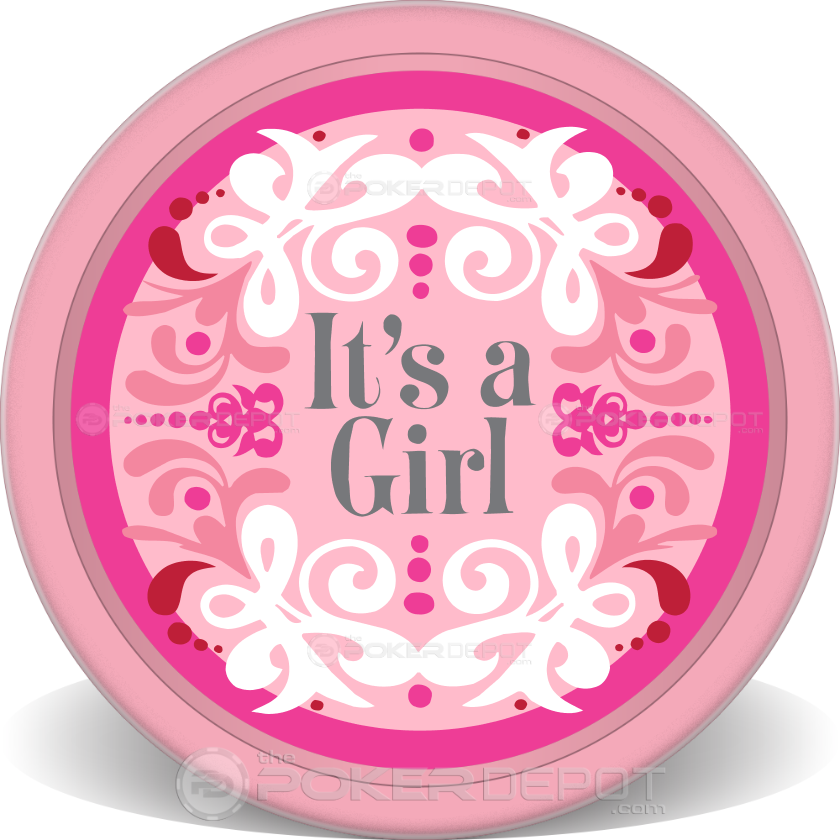 It's a GIRL Poker Chips - Back
