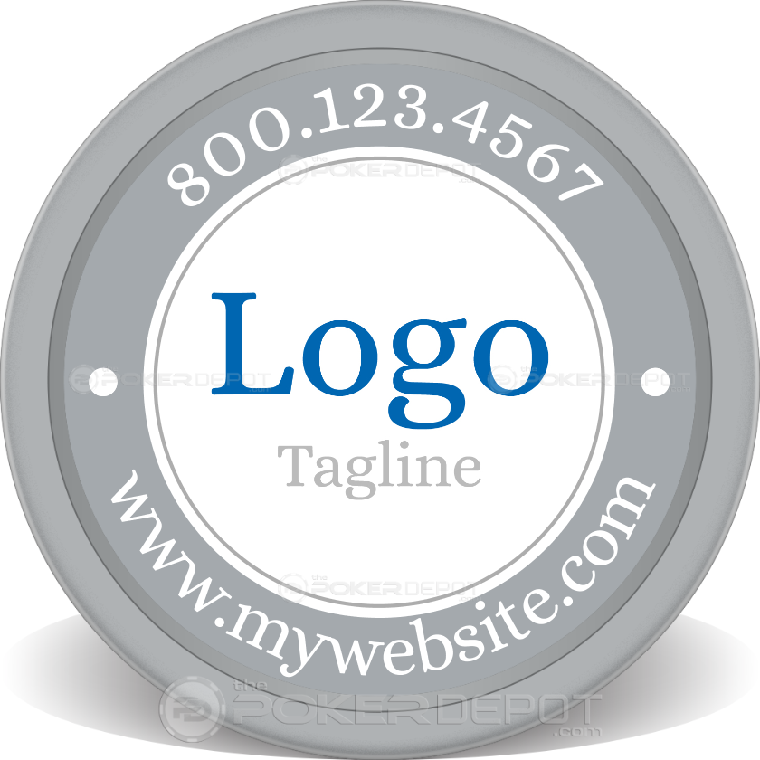 Logo & Slogan Poker Chip - Main
