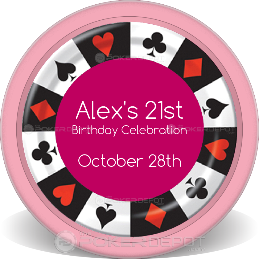 Birthday Party Poker Chips - Back