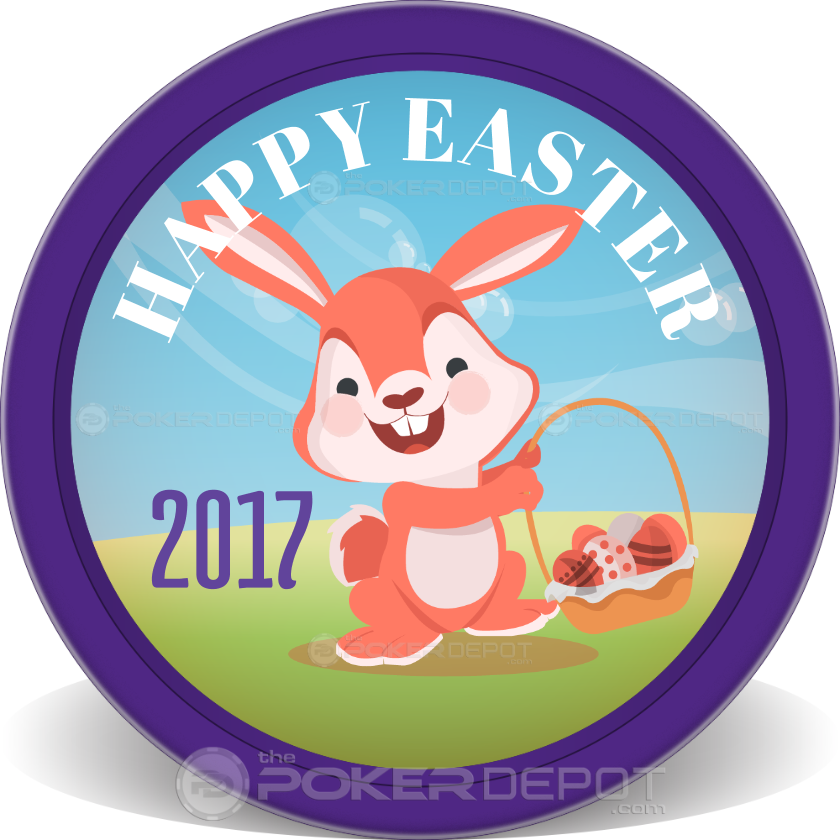 Easter Bunny Poker Chips - Front