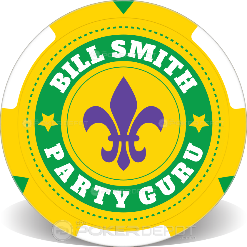 Mardi Gras Poker Chips - Back