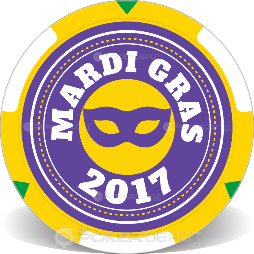 Mardi Gras Poker Chips - Main