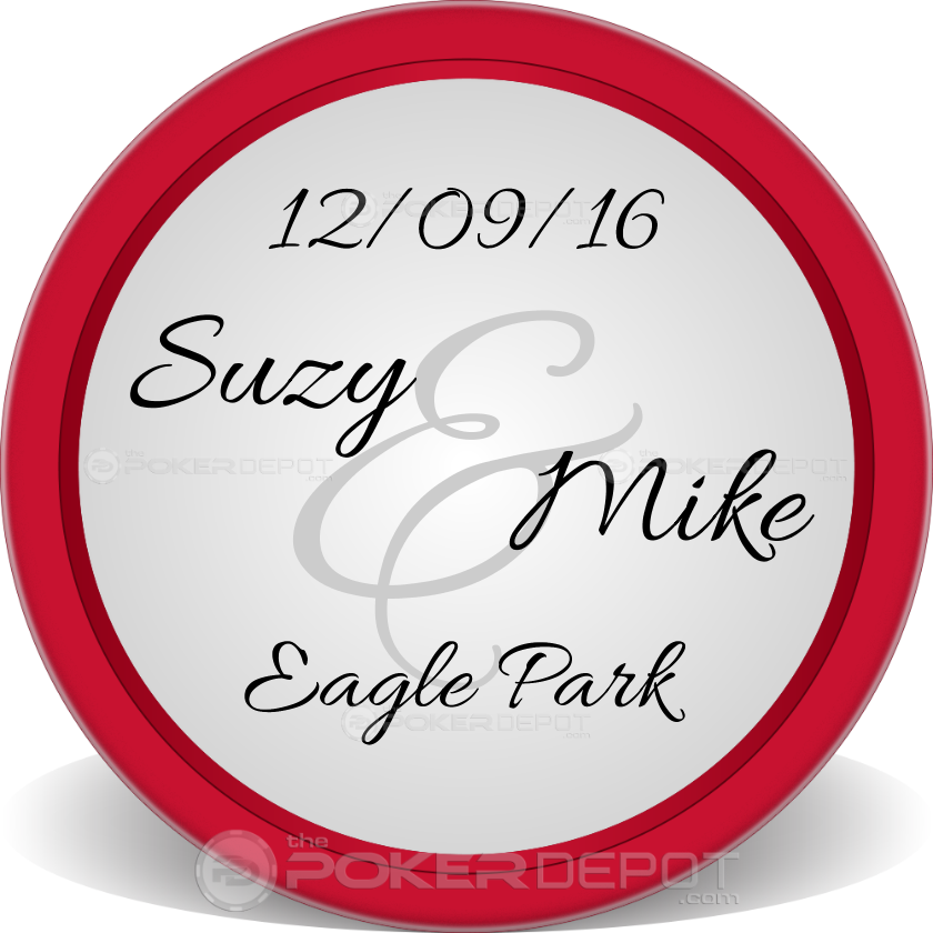 Save The Date Retro Poker Chips - Back