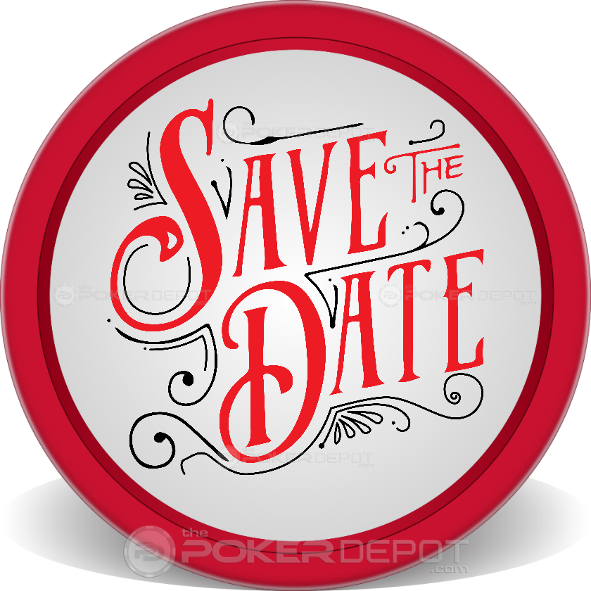 Save The Date Retro Poker Chips - Main