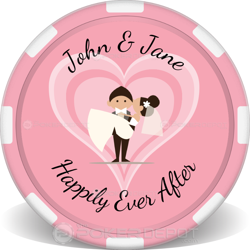 Wedding Couple Poker Chip - Front