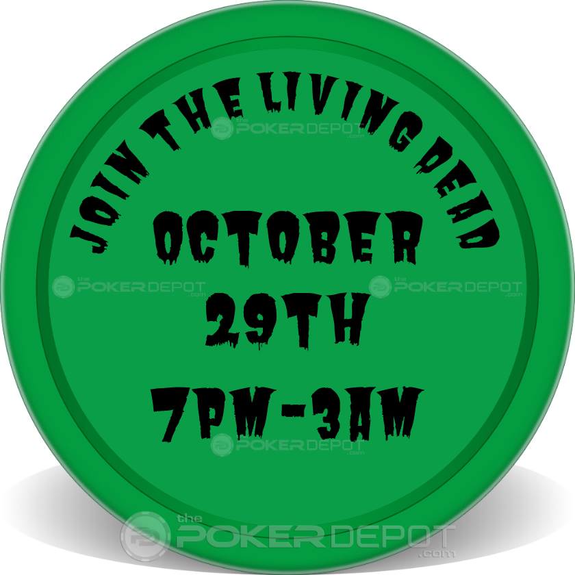 Zombie Party Poker Chips - Back