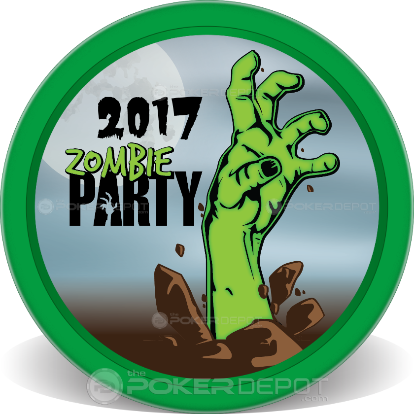 Zombie Party Poker Chips - Main