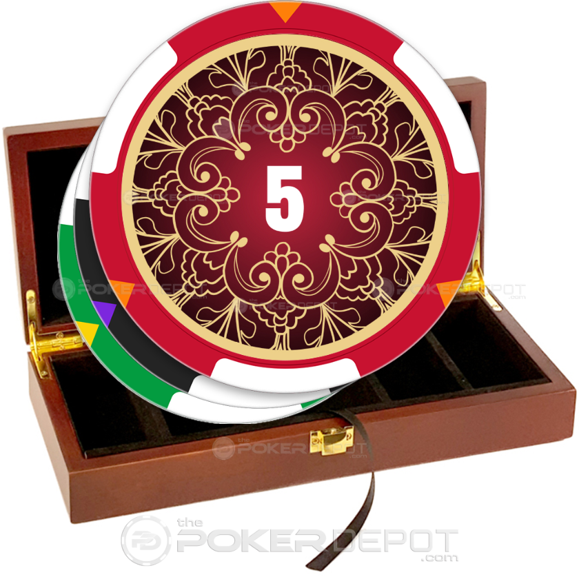 Filigree Poker Chip Set - Main