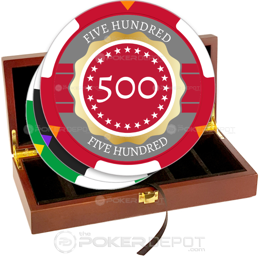 Gold Ribbon Poker Chip Set - Main