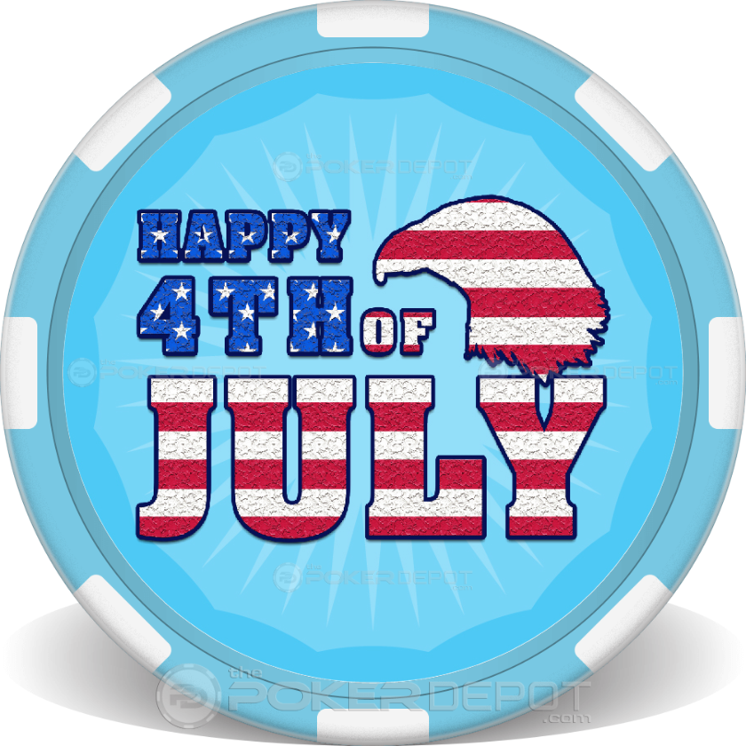 Happy 4th of July Poker Chips - Main