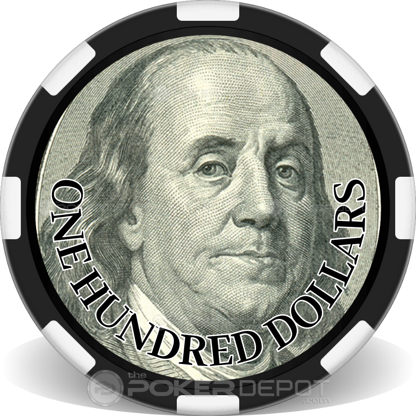 US Currency Poker Chip Set - Chip 3