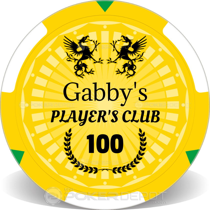 Player's Club Poker Chips - Back