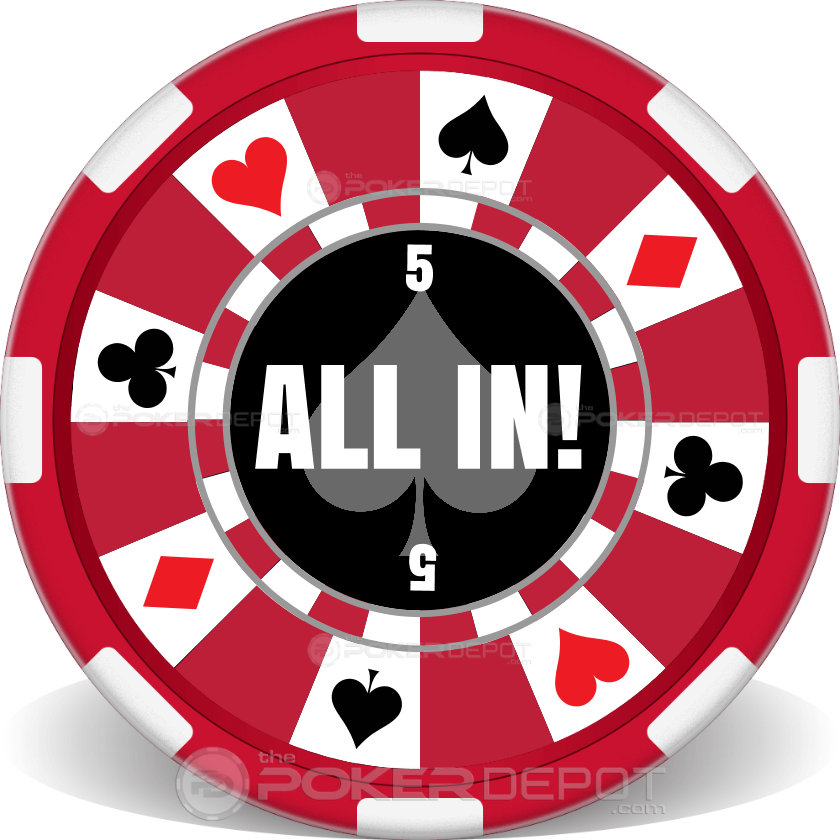 ring of suits chip 1 - Clay Poker Chips