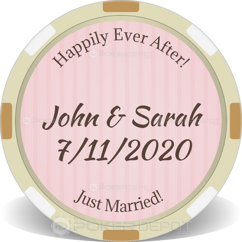 Custom Wedding Token - Back
