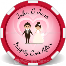 Wedding Couple Poker Chip