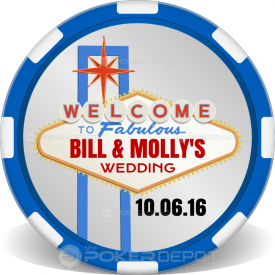 Vegas Sign Wedding Poker Chips